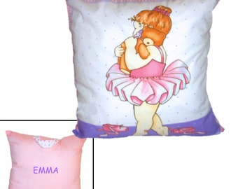 PERSONALIZED TRAVEL PILLOW - Pink Ballerina