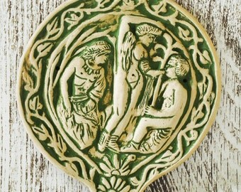 An Etruscan Wall Tile Representing The Ripe Harvest - Historical Reproduction - Old Religion of Italy