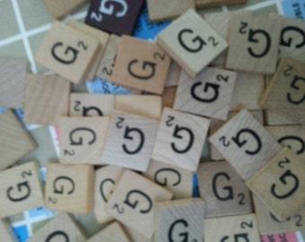 Letter G Scrabble letter tiles 50