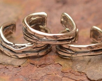 Two Artisan Wrap Connector Links in Sterling Silver, FN-79, S/2