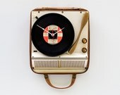 Clock made from a recycled Steelman Record Player