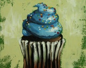 Cupcake painting 132 12x12 inch original still life oil painting cupcakes by Roz