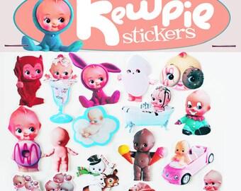 kewpie stickers cute big eye dolly baby boopsiedaisy sticky poos