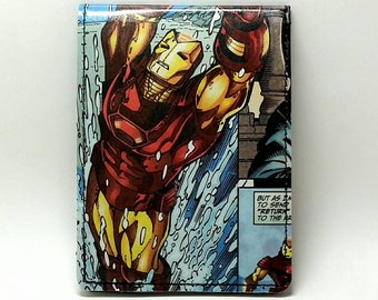 Sewn Comic Book Wallet - Iron Man Design 20