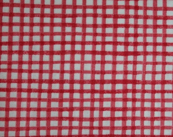 Dark Pink Checks from the Aunt Lindy's Paper Dolls collection by Blue Hill b7172-2 By the fat quarter or half yard