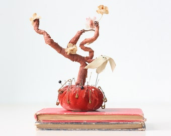 Vintage Tree Pincushion, Cherry Blossom Tree