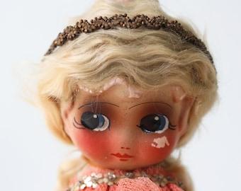 Vintage Kewpie Lamp, Chalkware Plaster Kewpie Doll