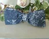 Blue Denim and Glitz Bow Tie , Country/Western Wedding , Groomsmen Bowtie , Performance , Men Women Boys Cotton Bow Tie , Pre-tied Clip-On