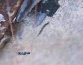 Dark Matter Necklace - Raw Black Dismond Necklace