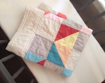 Tumbling Blocks Cradle Quilt