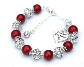 Special Partner Gift, Special Partner Bracelet, Partner Jewelry, Gift for Girlfriend, Spouses Jewelry, Couples Jewelry, Partner Bracelet