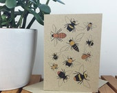 bee card / recycled