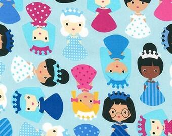 Princess Life Princess fabric by Ann Kelle, Princess Blue Princess Fabric, Princess in Frost, You Choose the Cut