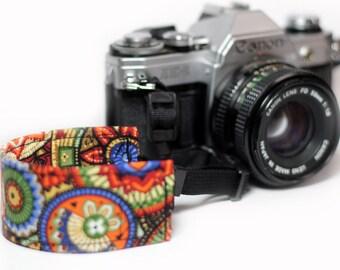 Aztec Wrist strap for DSLR Cameras - Southwestern - Aztec Basket