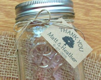 Rustic Natural with Twine Personalized Tie-On Tags - set of 20+