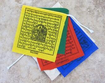 3 inch prayer flags set of 5