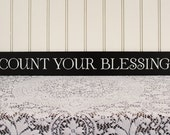 Count Your Blessings Sign Wall Decor Family Saying Handcrafted Wall Art