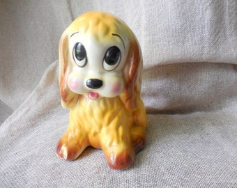 Vintage Sweet Sitting Cocker Spaniel Dog Planter remade into a Pin Cushion