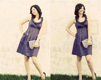 Eggplant Purple Bridesmaid Dress with pockets