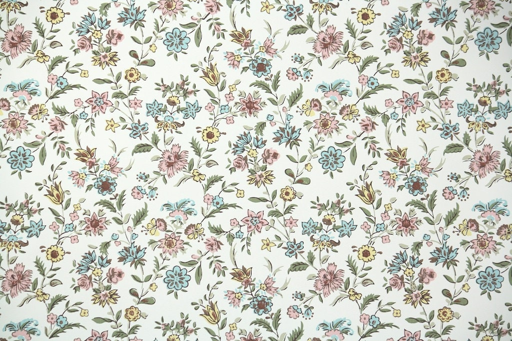 1 Wallpaper 1940s Vintage Wallpaper By The Yard Floral