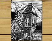 Victorian House, Valentine, Wall Art, 25% Off Sale, Art Print, Art, Birthday, Gift Idea, Gift For Her, Gift, Office Art, Home Art, Room Art