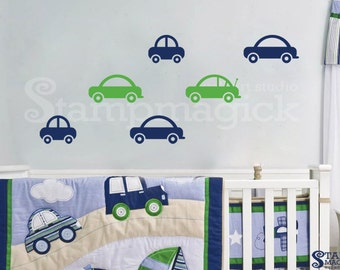 Cars Decal for Baby Boy Nursery - Cars Vinyl Wall Decal Graphics - K076
