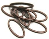 50 pcs of Antiqued copper plated brass oval links 16X8X1mm