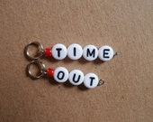 Time Out Stitch Markers for Knit or Crochet in Candy Apple Red - more colors and sizes available