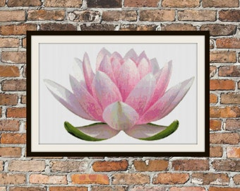 Lotus Blossom - Counted Cross Stitch Pattern