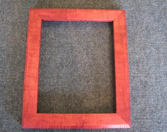 8x10 Curly Rock Maple Red Dye Picture Frame
