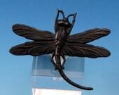Dragonfly Pendant, Matte Black, Trinity Brass, MB53