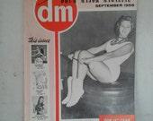 Vintage 1950's Drum Major Magazine , September 1959, Drum Majorettes, Acrobatic Dancers, Twirlers, Cheer Leaders, Dancers, Marching Band