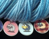 Silly SHEEP round stitchmarkers for KNITTERS or CROCHETERS