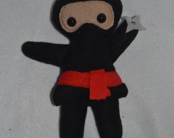 Adorable fleece plush ninja