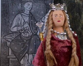 Ethelfleda of England Art Doll Miniature Historical Character