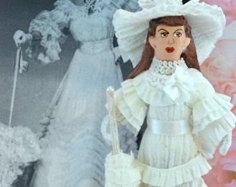 Judy Garland Doll Miniature Fan Art  Easter Parade Old Hollywood Film Star