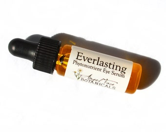 Everlasting Organic Phytonutrient Eye Serum with Rosehips, Squalene, Argan, Essential Oils - 4 ml Deluxe Sample/Travel Size