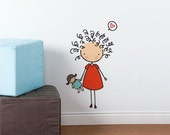 Curly cutie - Wall Decal - Wall Sticker