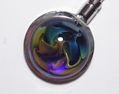 EMBLEM Purse Hanger With Lampworked Borosilicate Glass Cabochon