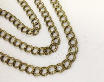 10 feet bronze finish double circle twist chain 6mm CH19
