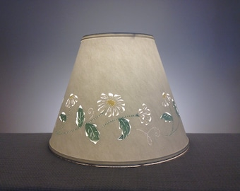 Daisy Cut & Pierced Paper Lampshade-Daisies-Paper Shade-Lamp Shade-Flowers-Hand painted-Handmade-Home and Living-Lighting-Barbaragailslamps