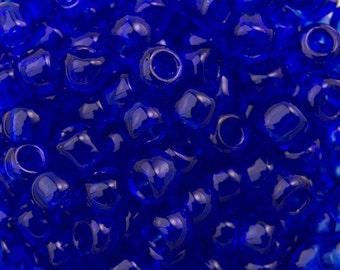 "Transparent Cobalt Toho Seed Bead 8/0 2.5"" Tube TR-08-8/c"