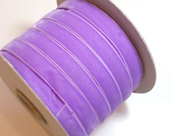 Purple Ribbon, Lilac Purple Velvet Ribbon 5/8 inch wide x 3 yards, Made in Switzerland