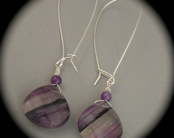 Amethyst Extravaganza - earrings - natural stones