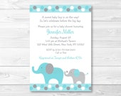 Teal Elephant Baby Shower...