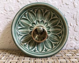 Ceramic Ring Holder -Handmade Trinket Dish - Ring Catcher Bowl - Jewelry Holder - Mandala