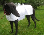 GreyhoundHappy's Greyhound Cool Down Coat, Large, White