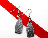 Aluminum Dangle Earrings Textured Metal Lightweight Jewelry by Hendywood