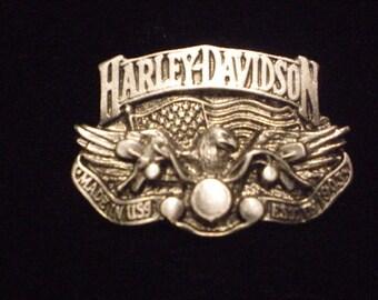 vintage harley davidson pin EAGLE RIDEING HARLEY