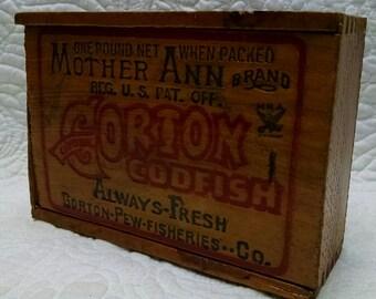 Gorton Codfish Slide Box
